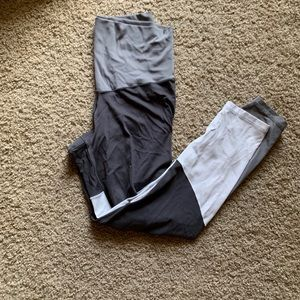 Aerie real play high waisted color block leggings